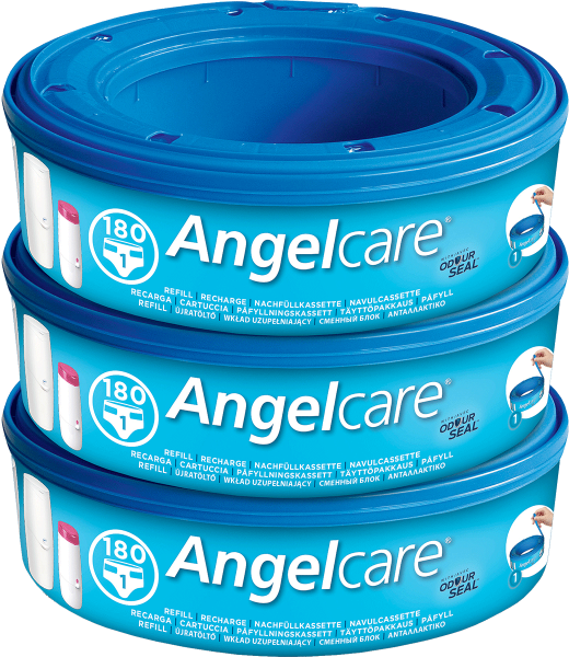 Angelcare Nappy Disposal System Refill Cassettes - 3 Pack