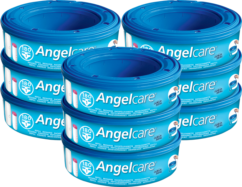 Angelcare Nappy Disposal System Refill Cassettes – 9 Pack
