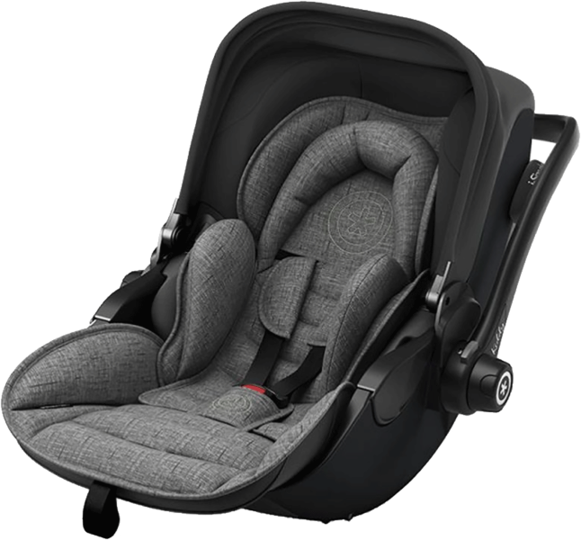 Kiddy Evoluna i-Size 2 Car Seat - Black/Grey Malange Edition