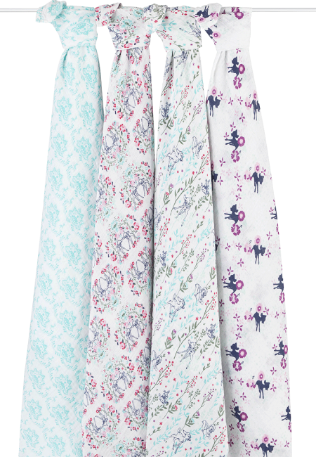 aden + anais Classic Muslin Swaddle 4 pack - Disney Collection