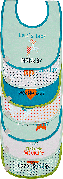 Lela Weekdays Bib