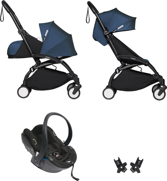 Babyzen YoYo2 Complete Travel System Black frame - Air France Edition