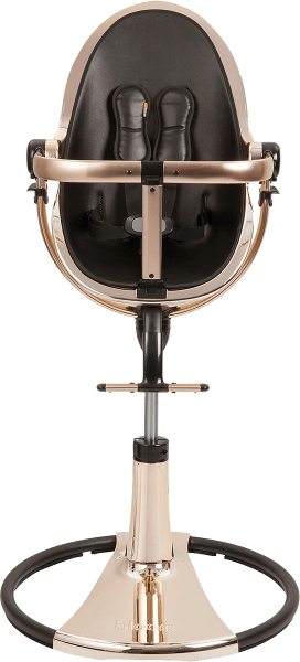 Bloom Fresco Chrome Highchair - Rose Gold / Black