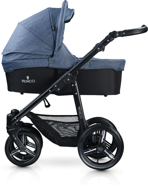 Venicci Soft Edition 3 in 1 Travel System - Black Chassis