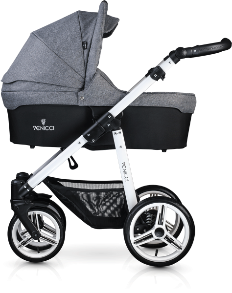 Venicci Soft Edition 3 in 1 Travel System - White Chassis