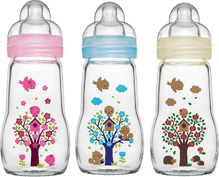 MAM Glass Baby Feeding Bottle 260ml