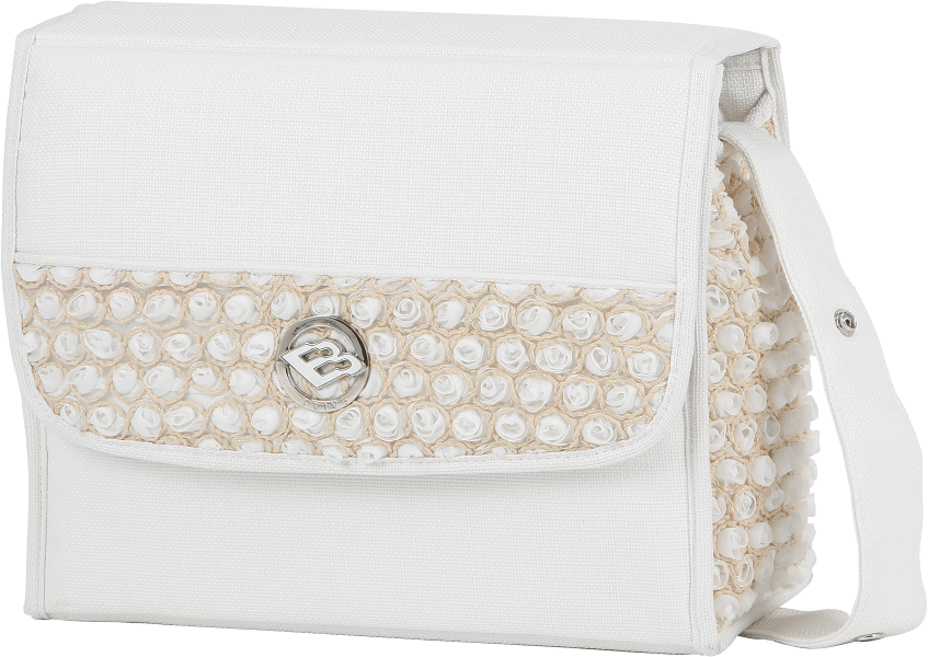 Bebecar Stylo Class EL Carre Changing Bag - White Bouquet