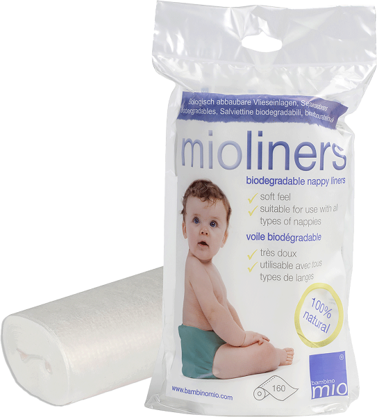 Bambino Mio Pack of 160 Nappy Liners