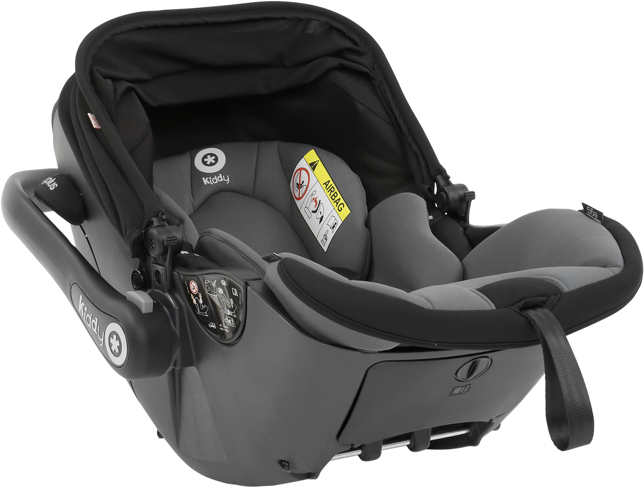 kiddy evoluna i size car seat egg black. Black Bedroom Furniture Sets. Home Design Ideas